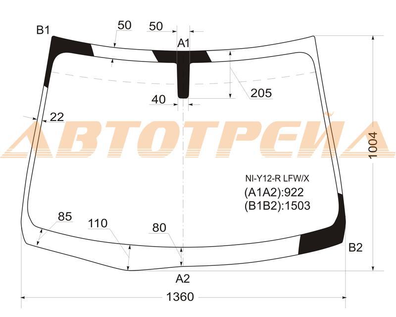 Продажа и замена автостекол Nissan AD Y12. Лобовое, боковое, заднее автостекло Nissan AD Y12