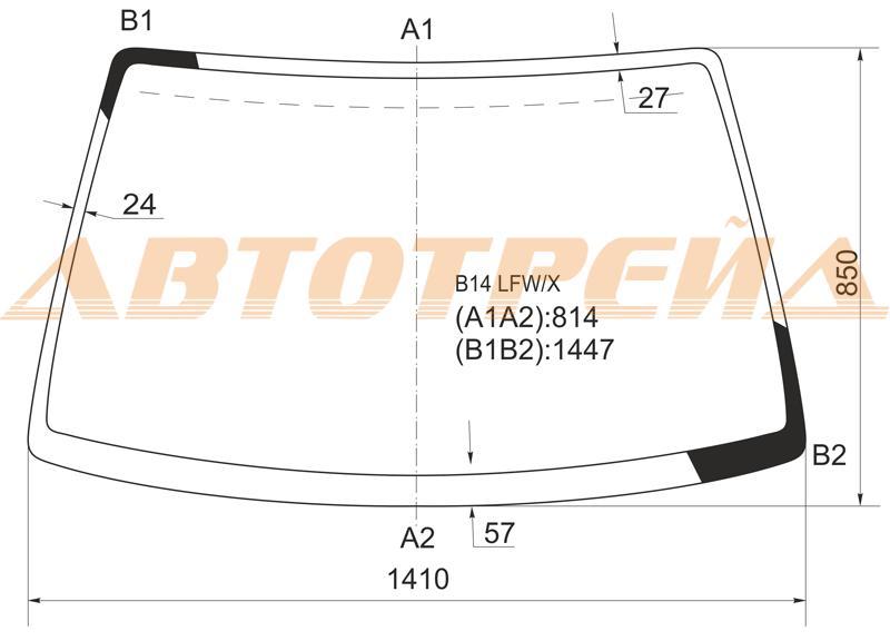 Продажа и замена автостекол Nissan Almera N15. Лобовое, боковое, заднее автостекло Nissan Almera N15