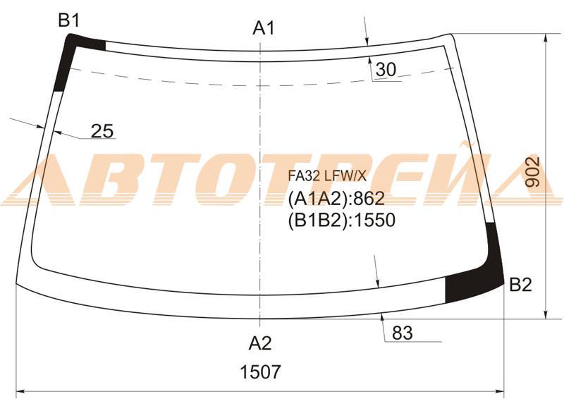 Продажа и замена автостекол Nissan Maxima A32. Лобовое, боковое, заднее автостекло Nissan Maxima A32