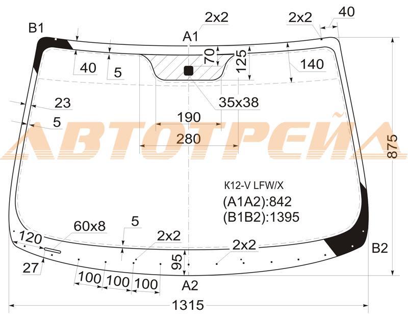 Продажа и замена автостекол Nissan Micra K12. Лобовое, боковое, заднее автостекло Nissan Micra K12
