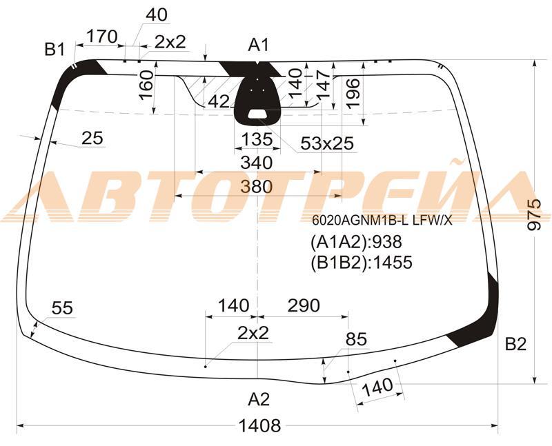 Продажа и замена автостекол Nissan Primera P12. Лобовое, боковое, заднее автостекло Nissan Primera P12