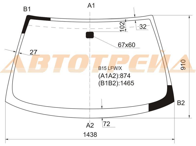 Продажа и замена автостекол Nissan Sunny B15. Лобовое, боковое, заднее автостекло Nissan Sunny B15