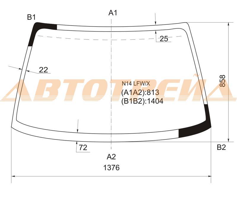 Продажа и замена автостекол Nissan Sunny N14. Лобовое, боковое, заднее автостекло Nissan Sunny N14