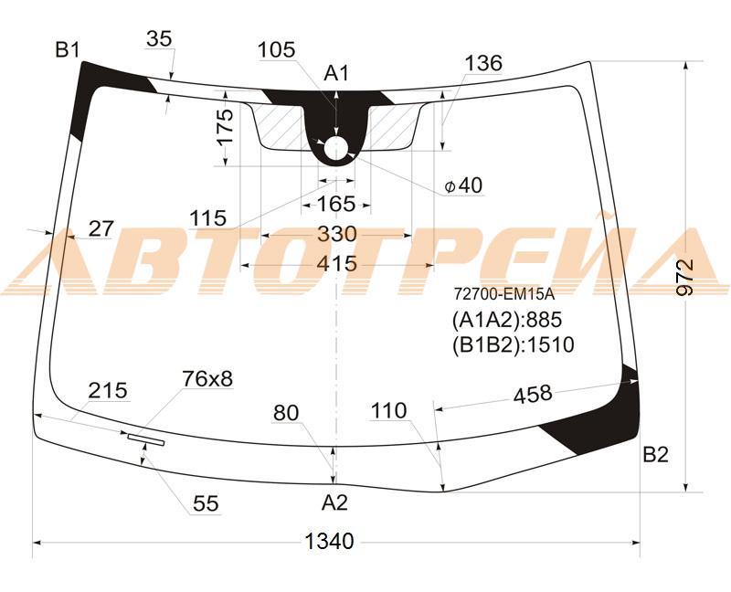 Продажа и замена автостекол Nissan Tiida. Лобовое, боковое, заднее автостекло Nissan Tiida