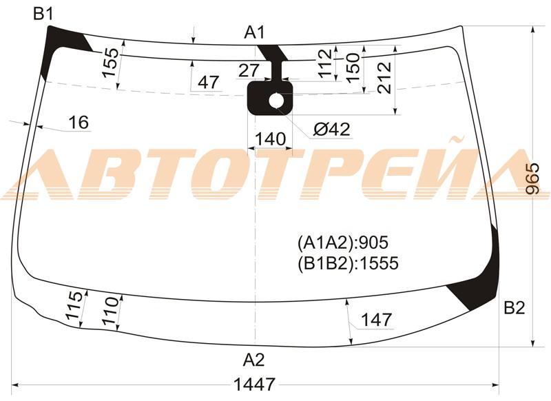 Продажа и замена автостекол Nissan X-Trail T31. Лобовое, боковое, заднее автостекло Nissan X-Trail T31