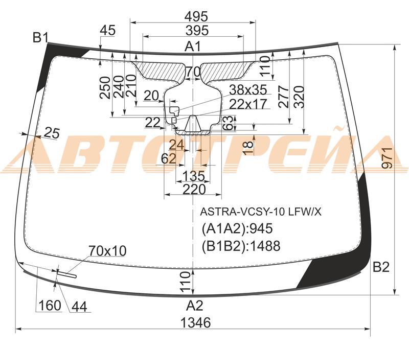 Продажа и замена автостекол Opel Astra J 5D Camera. Лобовое, боковое, заднее автостекло Opel Astra J 5D Camera