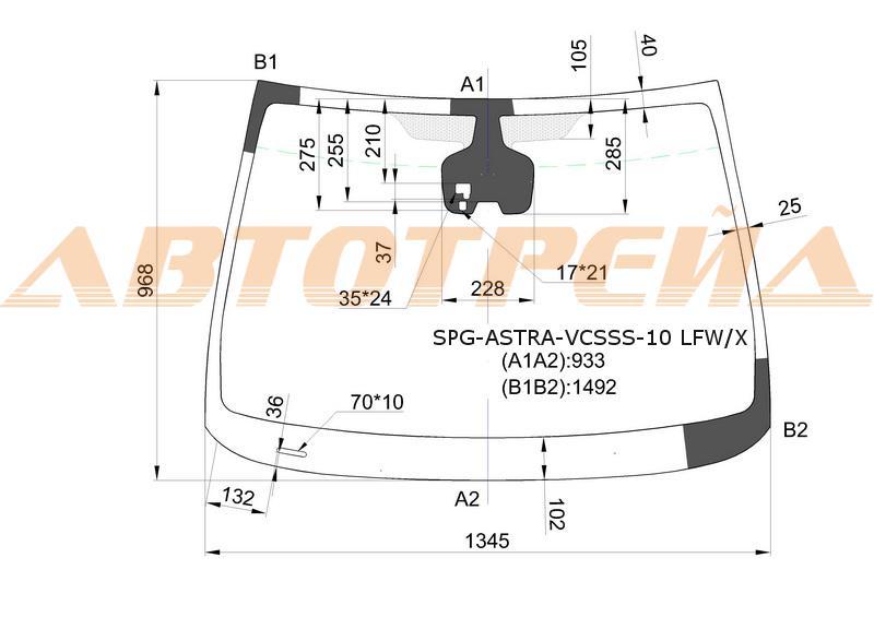 Продажа и замена автостекол Opel Astra J 5D. Лобовое, боковое, заднее автостекло Opel Astra J 5D