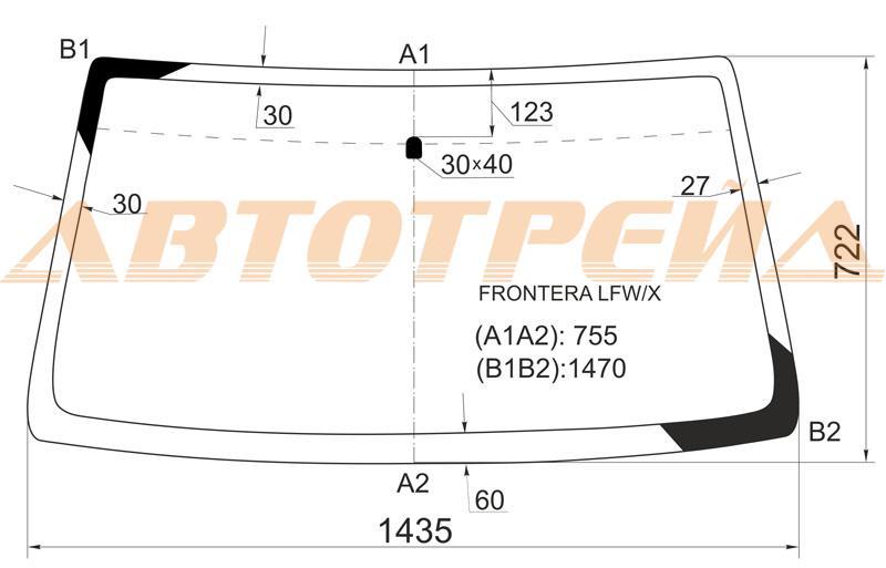 Продажа и замена автостекол Opel Frontera A. Лобовое, боковое, заднее автостекло Opel Frontera A