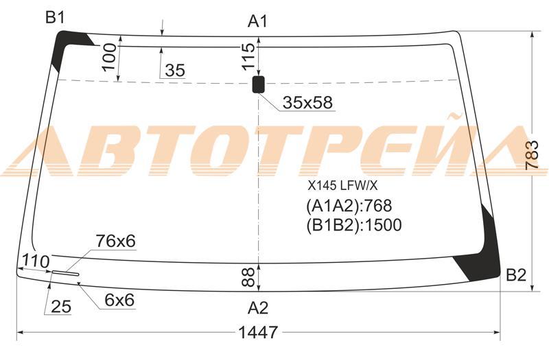 Продажа и замена автостекол Opel Frontera B. Лобовое, боковое, заднее автостекло Opel Frontera B