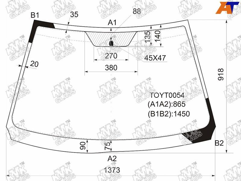 Лобовое стекло Toyota Corolla 140/150. Продажа и замена в Уфе.