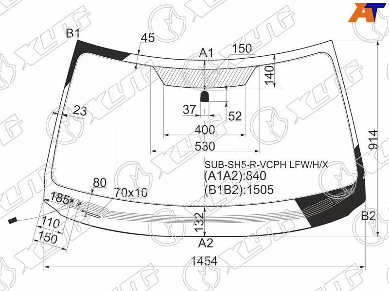 Лобовое стекло Subaru Forester 3. Продажа и замена в Уфе.