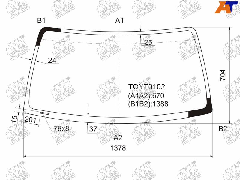 Лобовое стекло Toyota HiLux II. Продажа и замена в Уфе.