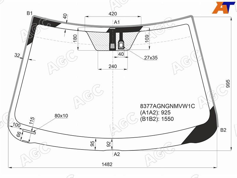 Лобовое стекло Toyota Camry 40. Продажа и замена в Уфе.