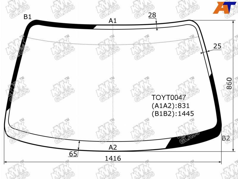 Лобовое стекло Toyota Carina E. Продажа и замена в Уфе.