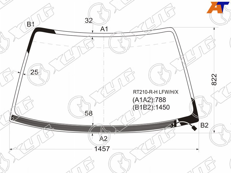 Лобовое стекло Toyota Corona Premio AT210. Продажа и замена в Уфе.