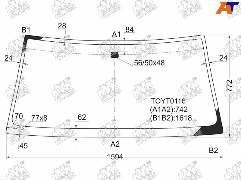 Лобовое стекло Toyota Land Cruiser 100. Продажа и замена в Уфе.