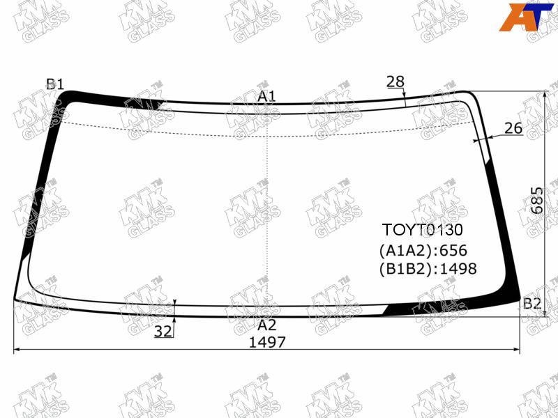 Лобовое стекло Toyota Land Cruiser 90. Продажа и замена в Уфе.