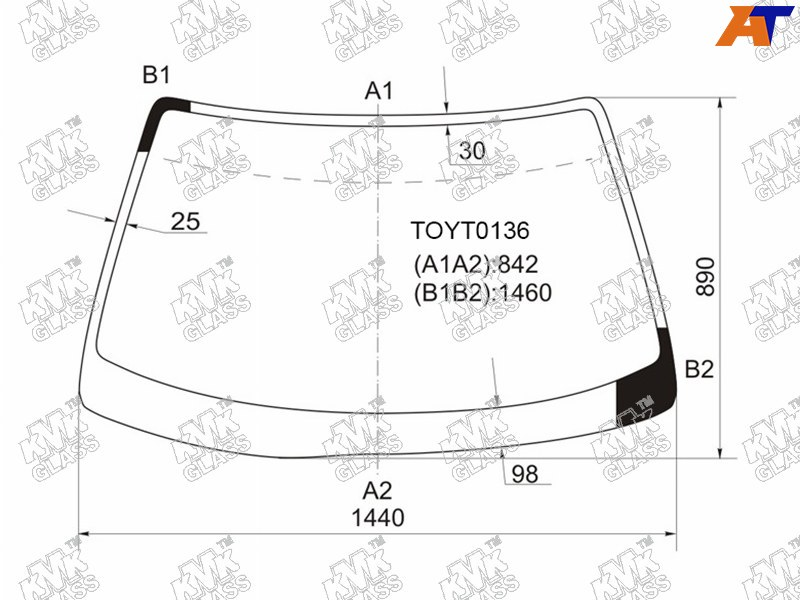 Лобовое стекло Toyota Mark II. Продажа и замена в Уфе.