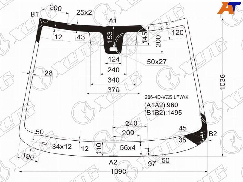 Лобовое стекло Peugeot 206. Продажа и замена в Уфе.