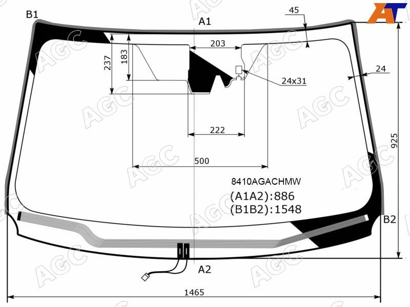 Лобовое стекло Toyota RAV-4 IV. Продажа и замена в Уфе.