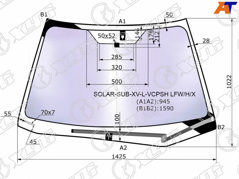 Лобовое стекло Subaru XV. Продажа и замена в Уфе.
