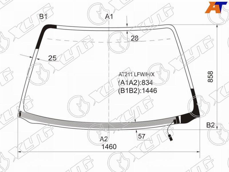 Лобовое стекло Toyota Avensis 1. Продажа и замена в Уфе.