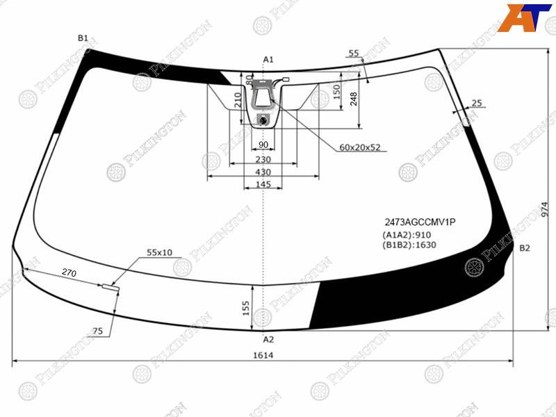 Лобовое стекло BMW X5 F15. Продажа и замена в Уфе.